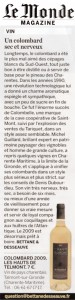 Article Magazine Le Monde Fevrier 2011