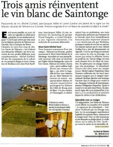 Trois amis réinventent le vin blanc de Saintonge